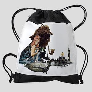 SherlockBlack1 Drawstring Bag