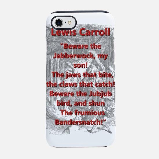 Jabberwocky 2 - L Carroll iPhone 7 Tough Case