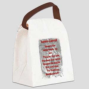 Jabberwocky 2 - L Carroll Canvas Lunch Bag