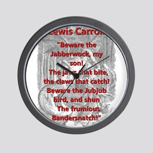 Jabberwocky 2 - L Carroll Wall Clock