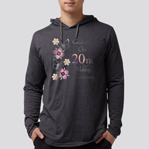 Elegant 20th Anniversary Mens Hooded Shirt