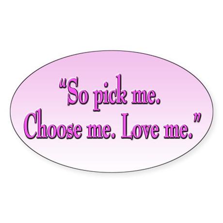 Grey's Anatomy Pick Me Oval Sticker