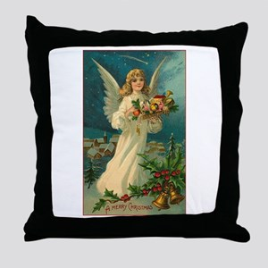 Victorian Angel - A Merry Christmas Throw Pillow