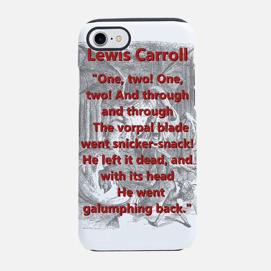 Jabberwocky 5 - L Carroll iPhone 7 Tough Case