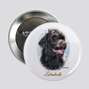 "Labradoodle Art 2.25"" Button (10 pack)"