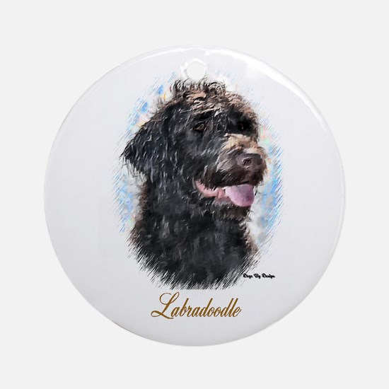 Labradoodle Art Ornament (Round)