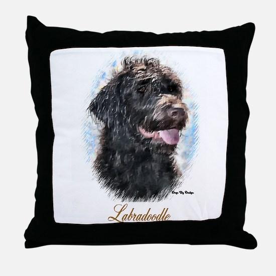 Labradoodle Art Throw Pillow