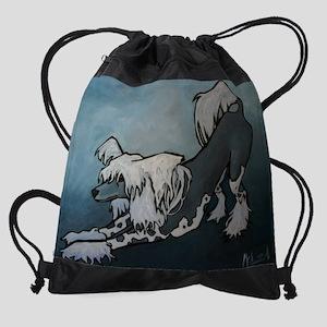 crested Drawstring Bag