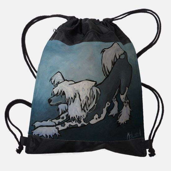 crested.jpg Drawstring Bag