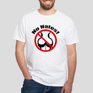 No Nates White T-Shirt