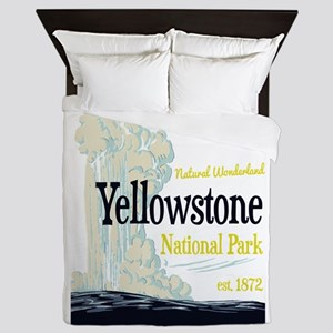 Yellowstone National Park Old Faithful Queen Duvet