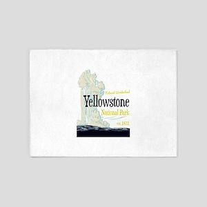 Yellowstone National Park Old Faith 5'x7'Area Rug