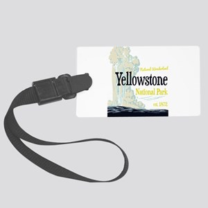 Yellowstone National Park Old Fa Large Luggage Tag