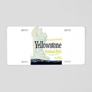 Yellowstone National Park O Aluminum License Plate