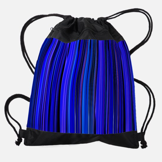 Blue Stripes Drawstring Bag