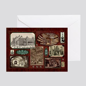 Paris Opera House, Vintage Red Greeting Cards