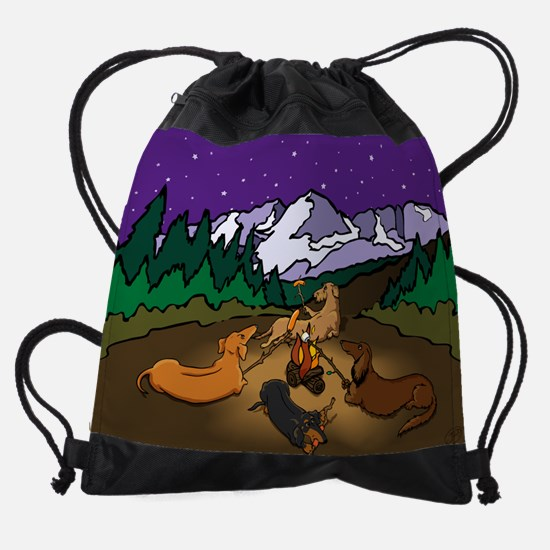 campingcal.jpg Drawstring Bag
