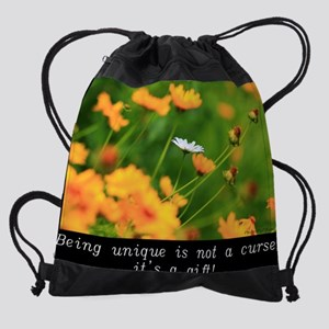 BEING UNIQUE IS NOT A CURSE, IT'S A Drawstring Bag