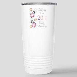 Elegant 20th Anniversary Mugs