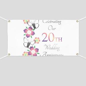 Elegant 20th Anniversary Banner
