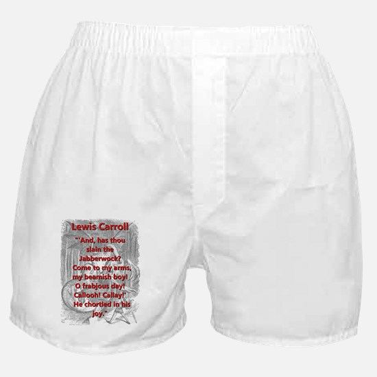 Jabberwocky 6 - L Carroll Boxer Shorts