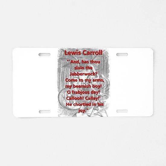 Jabberwocky 6 - L Carroll Aluminum License Plate