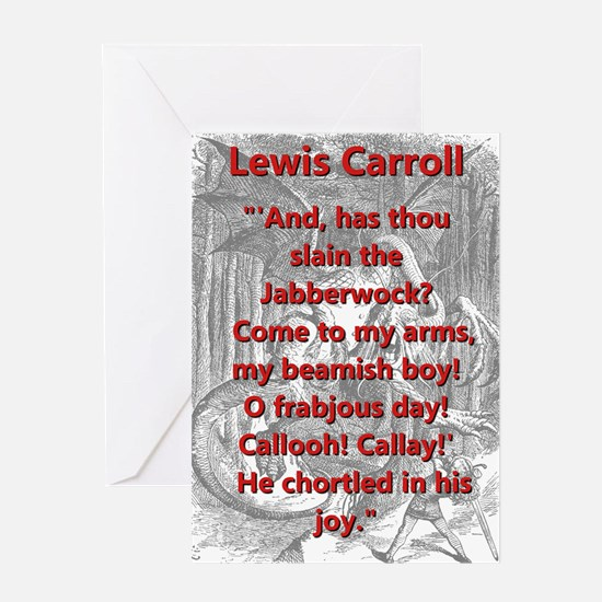 Jabberwocky 6 - L Carroll Greeting Cards