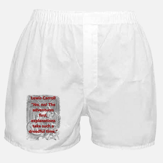 No No The Adventures First - L Carroll Boxer Short