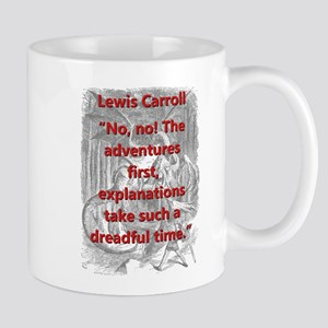 No No The Adventures First - L Carroll Mugs