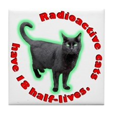 Radioactive Cat Tile Coaster