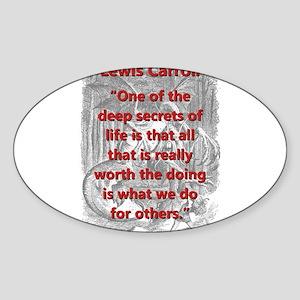 One Of The Deep Secrets Of Life - L Carroll Sticke