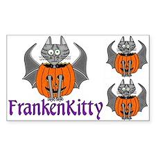 FrankenKitty Halloween Vinyl Stickers