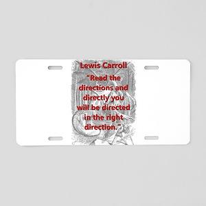 Read The Directions - L Carroll Aluminum License P