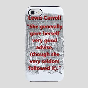 She Generally Gave Herself Very Good Advice iPhone