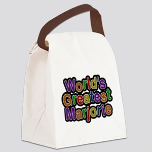 Worlds Greatest Marjorie Canvas Lunch Bag