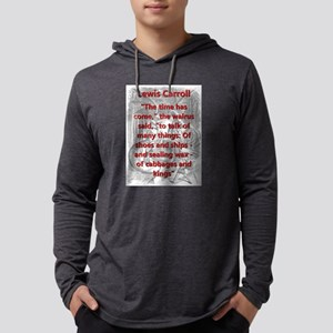 The Time Has Come - L Carroll Mens Hooded Shirt