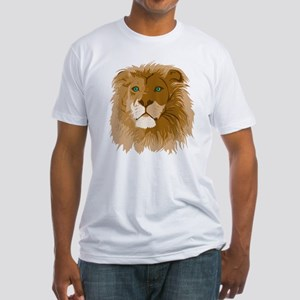 Realistic Lion Fitted T-Shirt