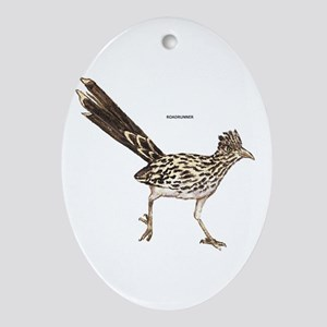 Roadrunner Desert Bird Ornament (Oval)