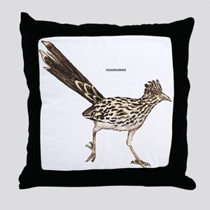 Roadrunner Desert Bird Throw Pillow