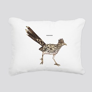 Roadrunner Desert Bird Rectangular Canvas Pillow