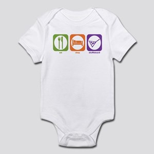 Eat Sleep Shuffleboard Infant Bodysuit