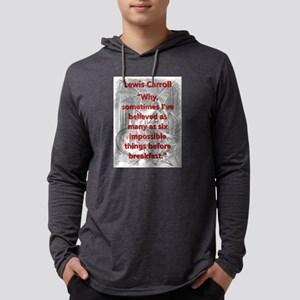 Why Sometimes Ive Believed - L Carroll Mens Hooded