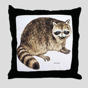 Raccoon Coon Animal Throw Pillow