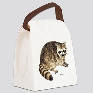 Raccoon Coon Animal Canvas Lunch Bag