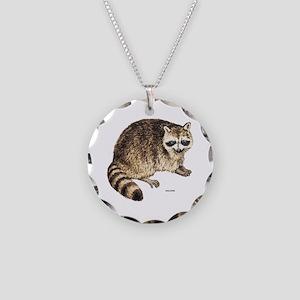 Raccoon Coon Animal Necklace Circle Charm