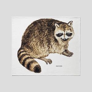 Raccoon Coon Animal Throw Blanket