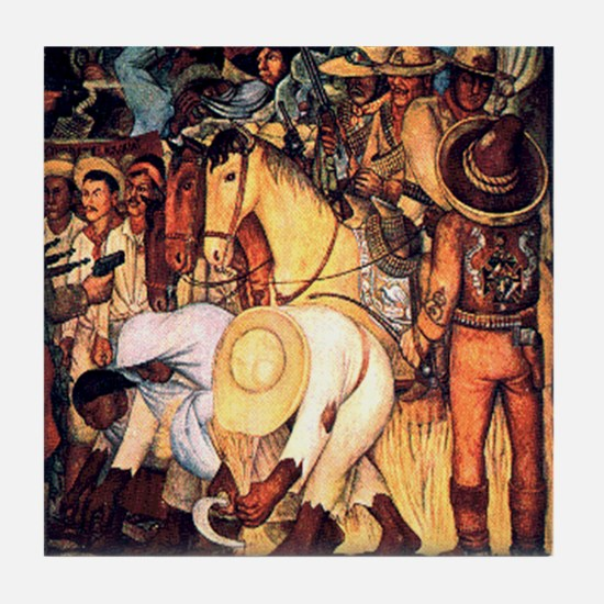 Diego Rivera Art Tile Coaster Campesinos Oprimidos