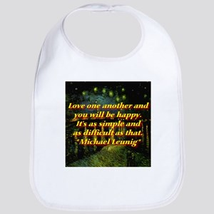 Love One Another Bib
