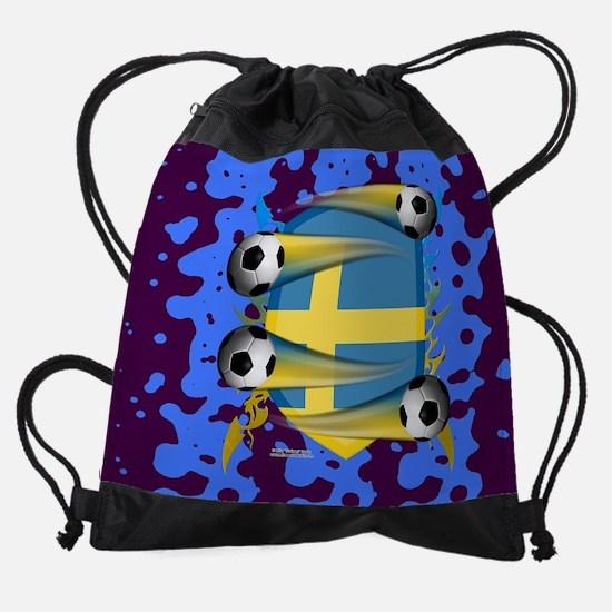 Swede Tribal Shield Drawstring Bag