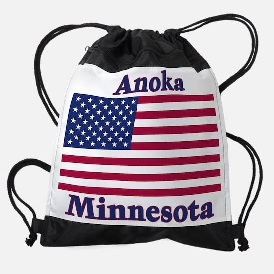 Anoka Flag.png Drawstring Bag